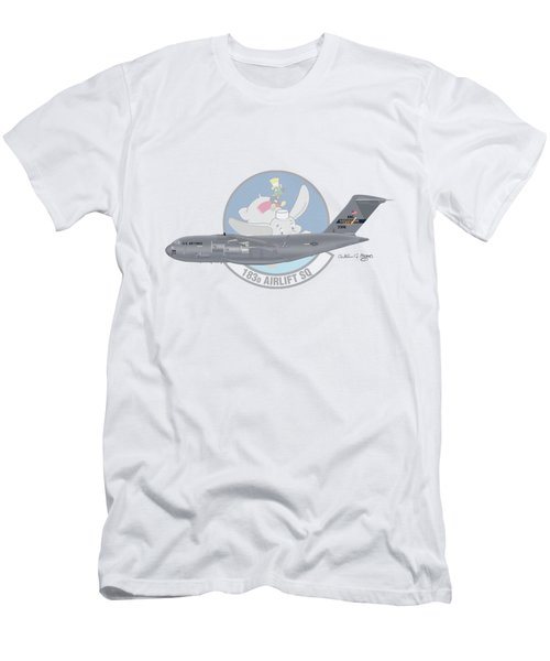 Men's T-Shirt (Slim Fit) featuring the digital art Boeing C-17 Globemaster IIi by Arthur Eggers