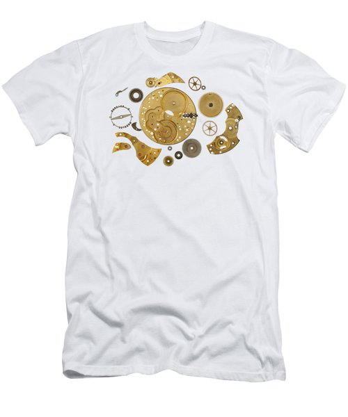 Men's T-Shirt (Slim Fit) featuring the photograph Clockwork Mechanism by Michal Boubin