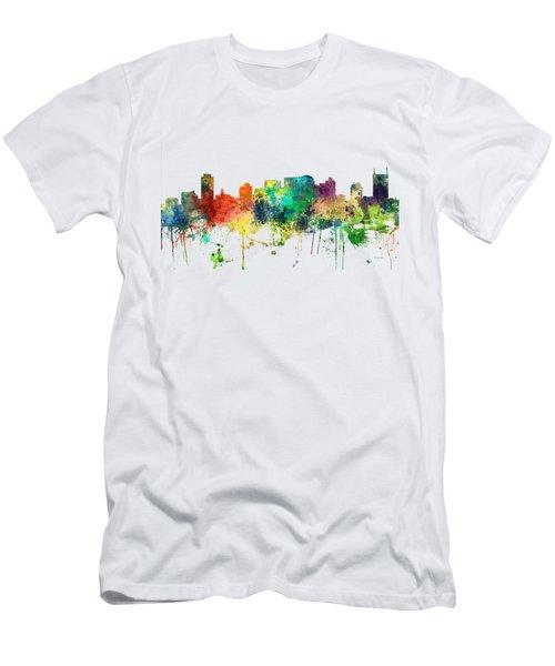 Nashville Tennessee Skyline Men's T-Shirt (Athletic Fit)