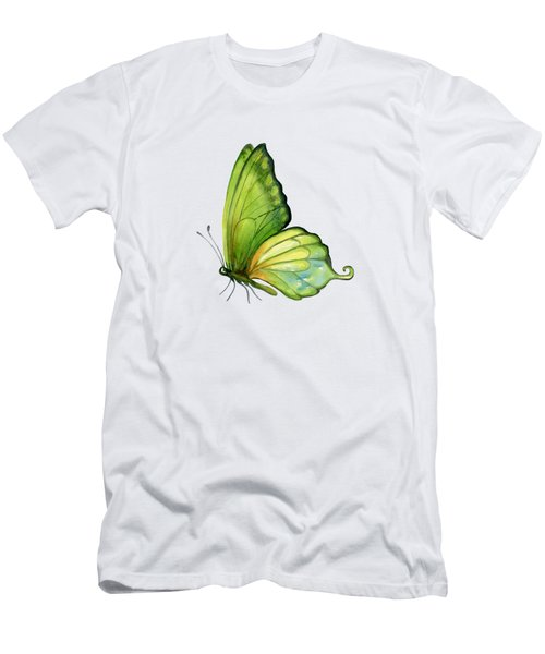 5 Sap Green Butterfly Men's T-Shirt (Slim Fit) by Amy Kirkpatrick