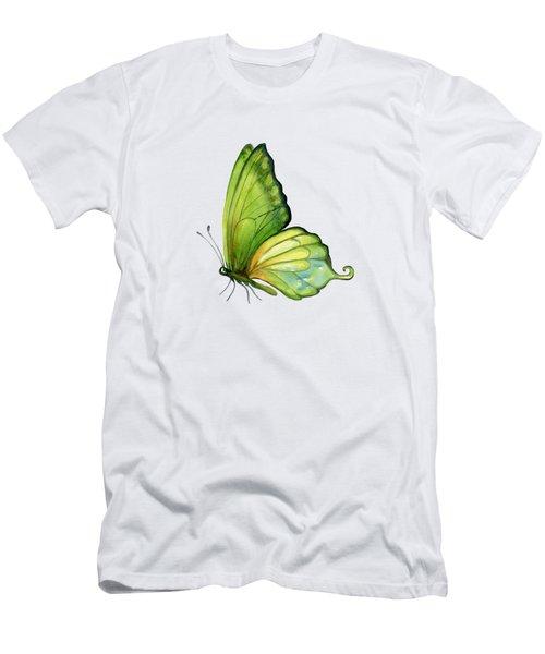 5 Sap Green Butterfly Men's T-Shirt (Slim Fit)
