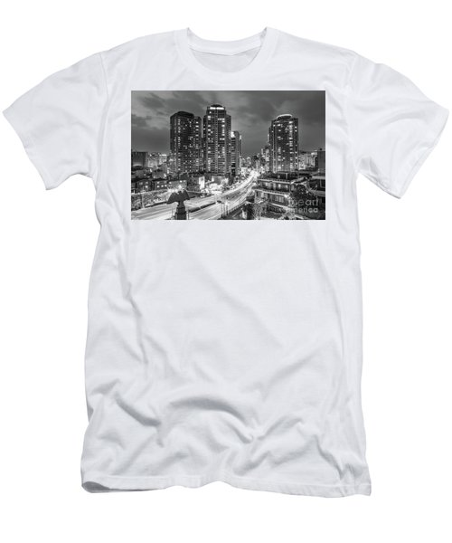 Seoul Night Rush Men's T-Shirt (Athletic Fit)