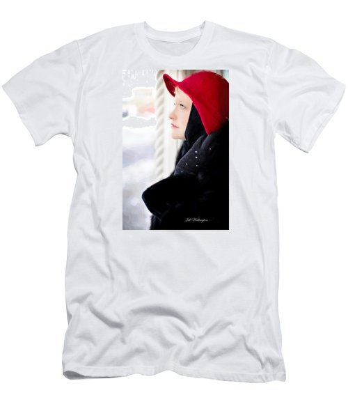 Men's T-Shirt (Athletic Fit) featuring the digital art Vintage Val Winter Glam by Jill Wellington