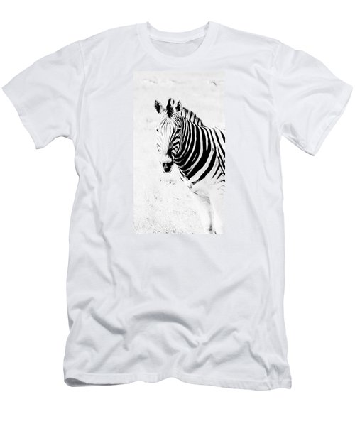 Men's T-Shirt (Slim Fit) featuring the photograph Zebra Art by Werner Lehmann