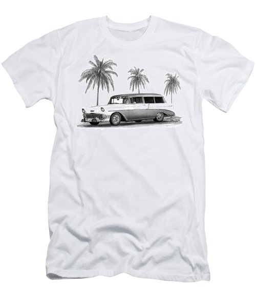 56 Chevy Wagon Men's T-Shirt (Athletic Fit)