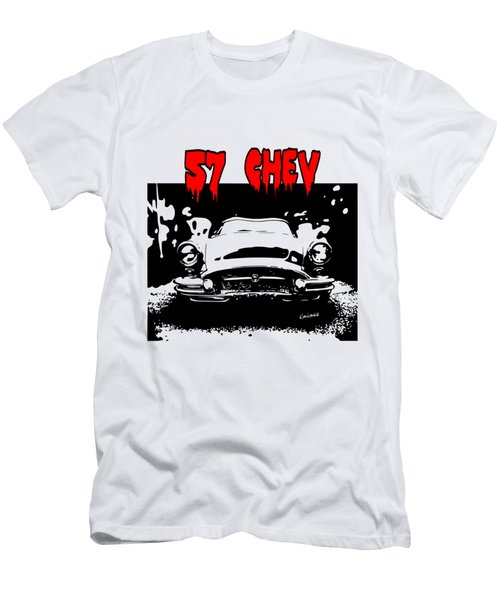Men's T-Shirt (Slim Fit) featuring the digital art 57 Chev by Kim Gauge