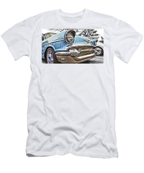 Men's T-Shirt (Athletic Fit) featuring the photograph '57 Chevy Bel Air by Daniel Adams