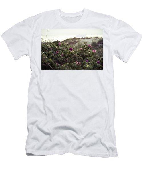 Rose Bush And Dunes Men's T-Shirt (Athletic Fit)