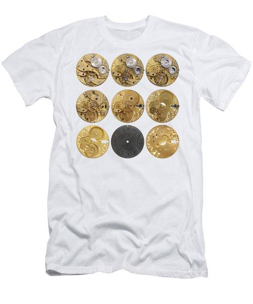Clockwork Mechanism Men's T-Shirt (Slim Fit) by Michal Boubin