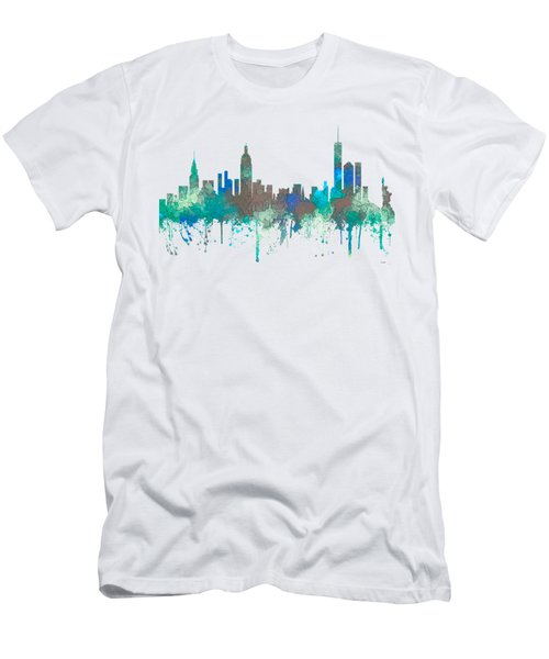 Men's T-Shirt (Slim Fit) featuring the digital art New York Ny Skyline by Marlene Watson