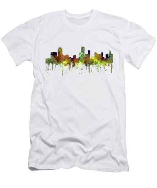 Newark  New Jersey Skyline Men's T-Shirt (Athletic Fit)