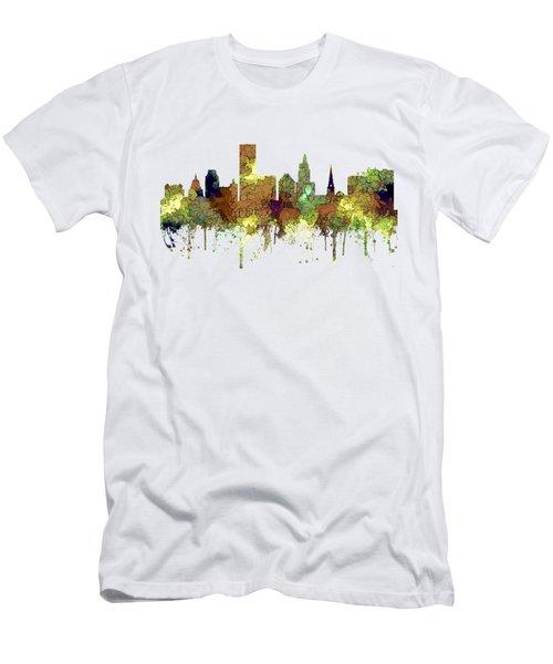 Providence Rhode Island Skyline Men's T-Shirt (Athletic Fit)