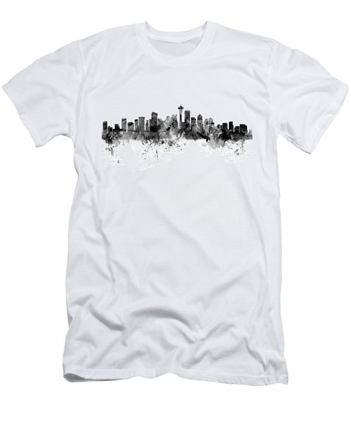 Seattle Washington Skyline Men's T-Shirt (Athletic Fit)