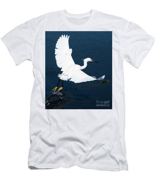Snowy White Egret Men's T-Shirt (Athletic Fit)