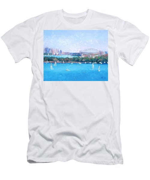 Sydney Harbour And The Opera House By Jan Matson Men's T-Shirt (Athletic Fit)