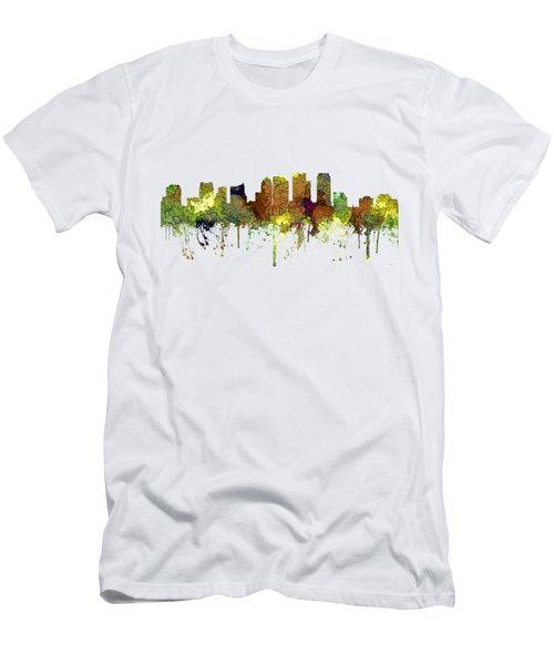 Tampa Florida Skyline Men's T-Shirt (Athletic Fit)