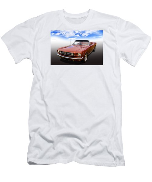 Men's T-Shirt (Slim Fit) featuring the photograph 65 Mustang by Keith Hawley