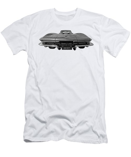 66 Vette Stingray In Black And White Men's T-Shirt (Athletic Fit)