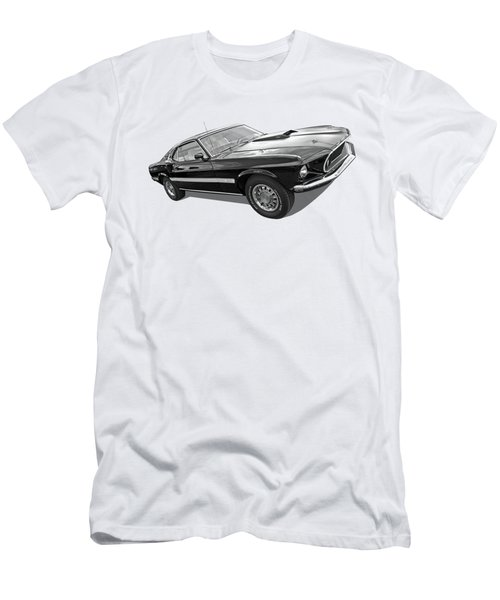 69 Mach1 In Black And White Men's T-Shirt (Slim Fit) by Gill Billington