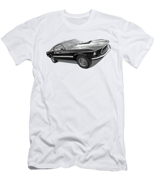 69 Mach1 In Black And White Men's T-Shirt (Athletic Fit)