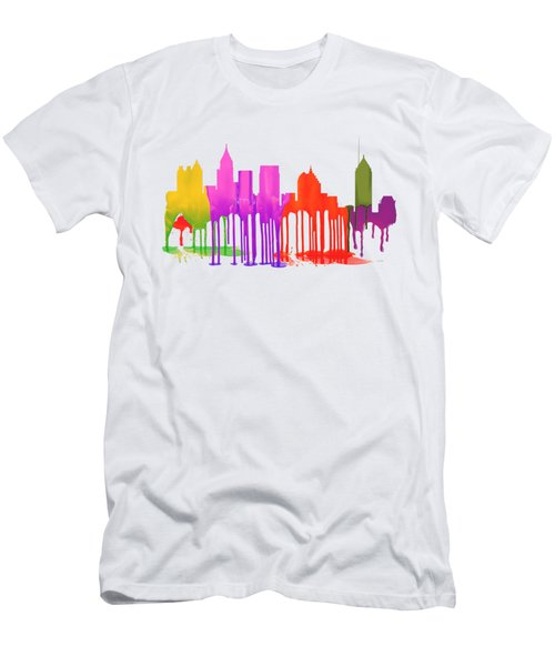 Atlanta Georgia Skyline Men's T-Shirt (Athletic Fit)