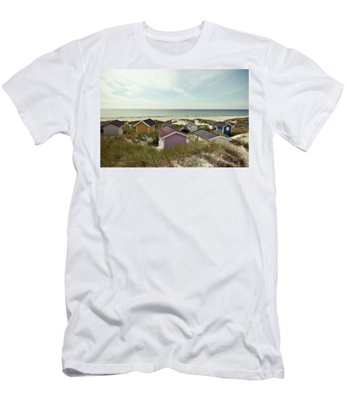 Beach Houses And Dunes Men's T-Shirt (Athletic Fit)