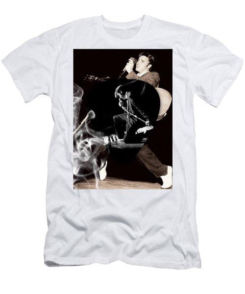 Elvis Presley Art Men's T-Shirt (Slim Fit) by Marvin Blaine