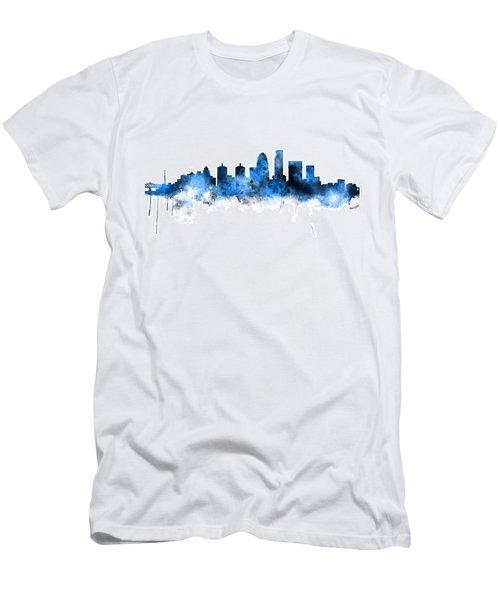 Louisville Kentucky City Skyline Men's T-Shirt (Athletic Fit)