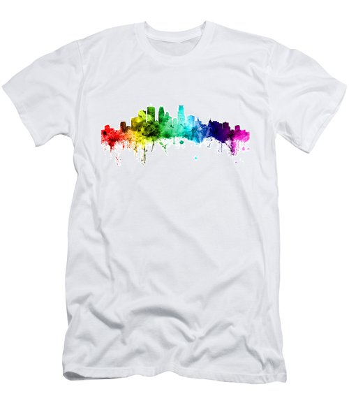 Minneapolis Minnesota Skyline Men's T-Shirt (Athletic Fit)