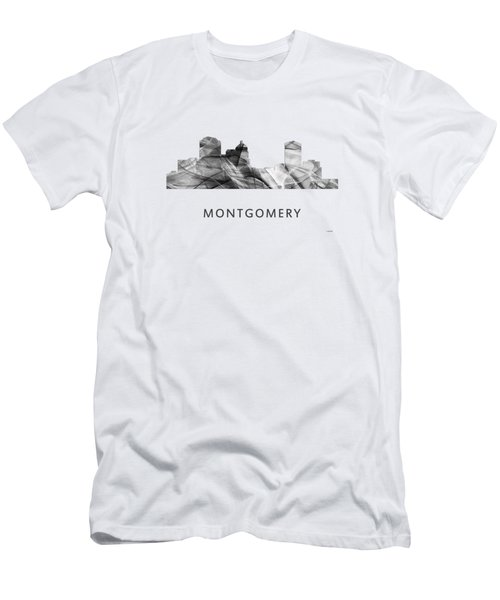 Montgomery Alabama Skyline Men's T-Shirt (Slim Fit) by Marlene Watson