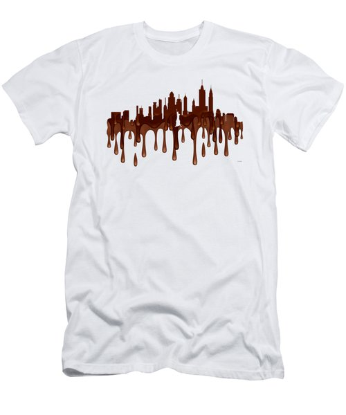 New York New York Skyline Men's T-Shirt (Athletic Fit)
