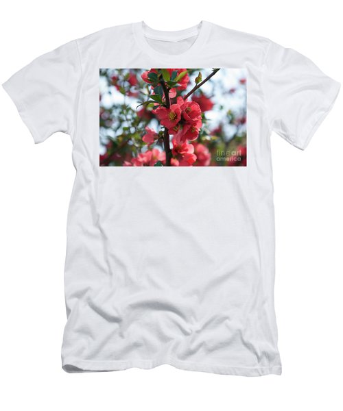 Tree Blossoms Men's T-Shirt (Slim Fit) by Elvira Ladocki