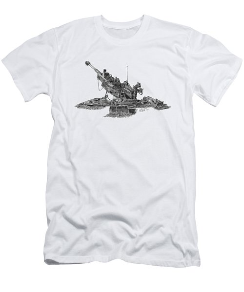 Men's T-Shirt (Athletic Fit) featuring the drawing 777 by Betsy Hackett