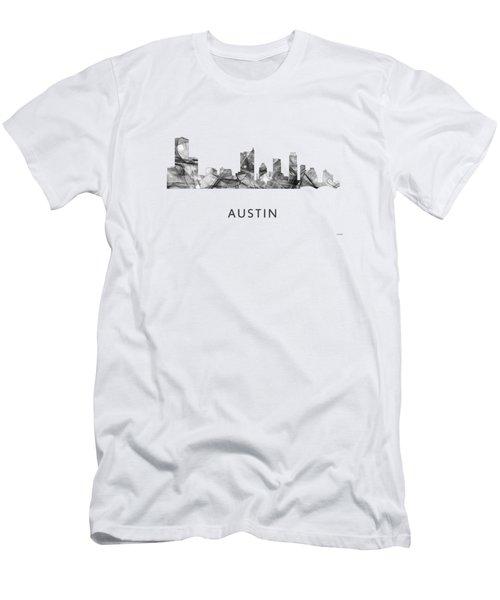 Austin Texas Skyline Men's T-Shirt (Slim Fit) by Marlene Watson