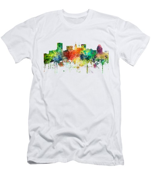 Baltimore Maryland Skyline Men's T-Shirt (Athletic Fit)
