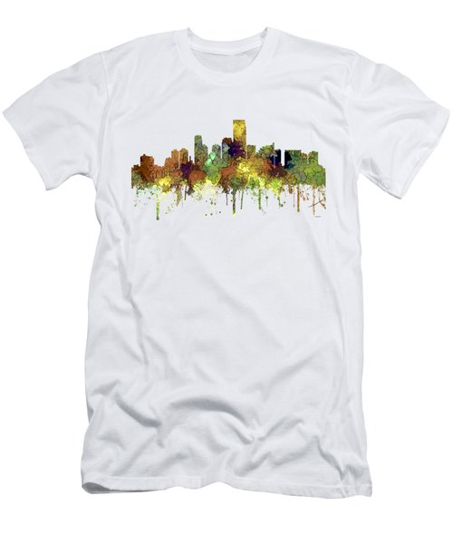 Jersey City New Jersey Skyline Men's T-Shirt (Athletic Fit)