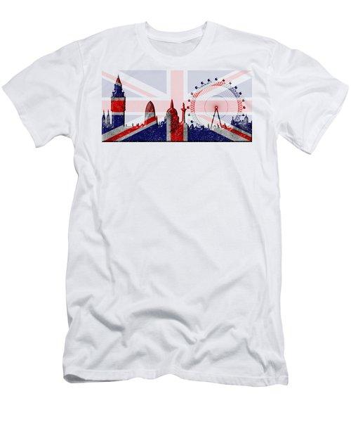 London Skyline Men's T-Shirt (Slim Fit) by Michal Boubin
