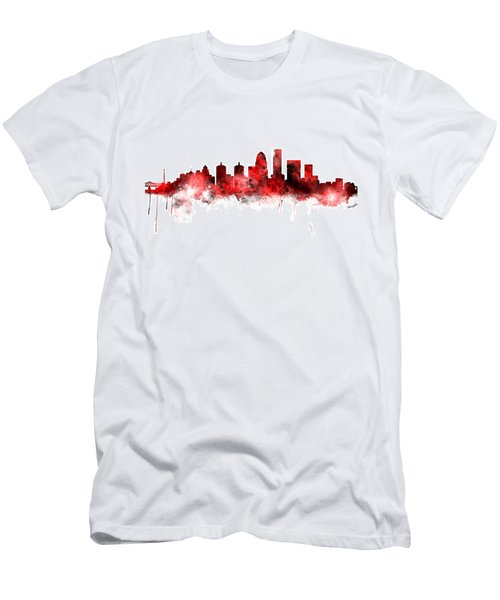 Louisville Kentucky City Skyline Men's T-Shirt (Slim Fit)