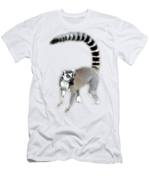 Ring Tailed Lemur Men's T-Shirt (Slim Fit) by George Atsametakis