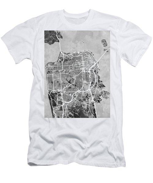 San Francisco City Street Map Men's T-Shirt (Athletic Fit)