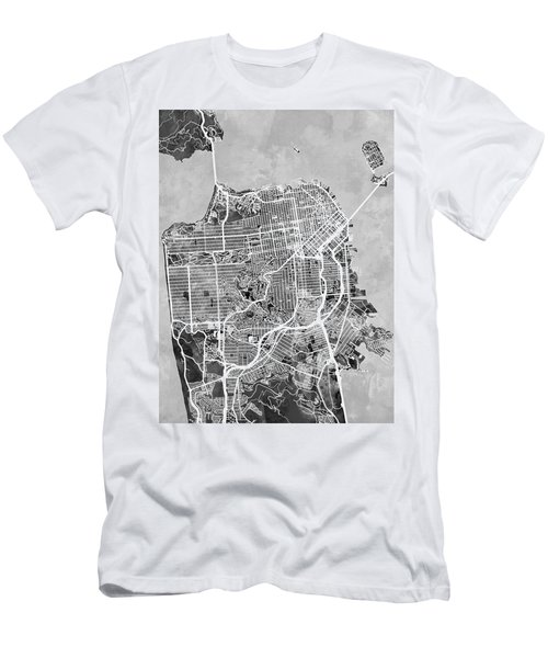 San Francisco City Street Map Men's T-Shirt (Athletic Fit)