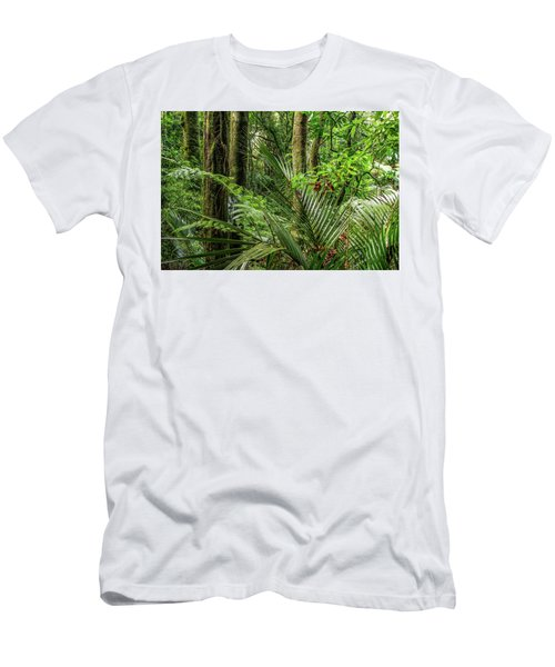 Men's T-Shirt (Slim Fit) featuring the photograph Tropical Jungle by Les Cunliffe