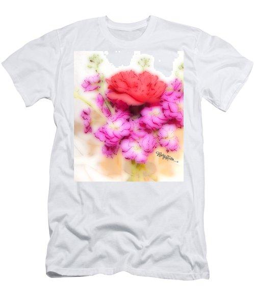 #8742 Soft Flowers Men's T-Shirt (Slim Fit) by Barbara Tristan