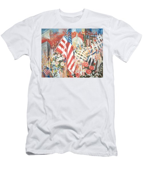 9-11 Attack Men's T-Shirt (Slim Fit) by Alexandra Maria Ethlyn Cheshire