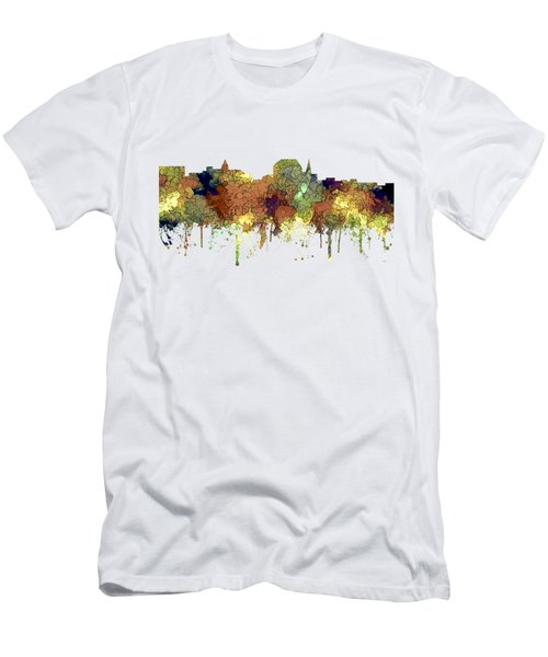 Augusta Maine Skyline Men's T-Shirt (Athletic Fit)