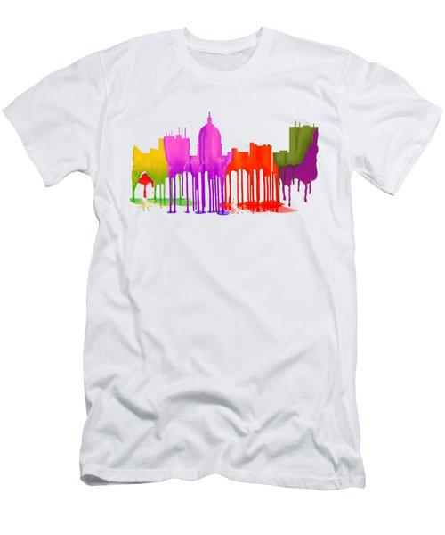 Boise Idaho Skyline Men's T-Shirt (Athletic Fit)