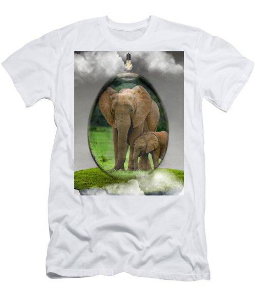 Elephant Art Men's T-Shirt (Athletic Fit)