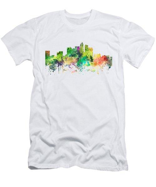 Los Angeles California Skyline Men's T-Shirt (Athletic Fit)