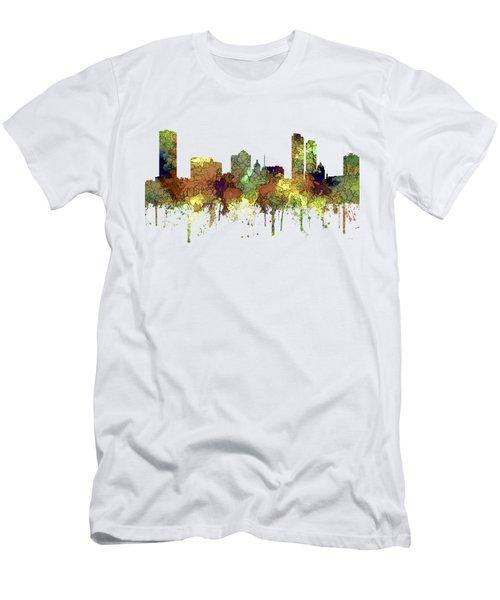 Milwaukee Wisconsin Skyline Men's T-Shirt (Athletic Fit)