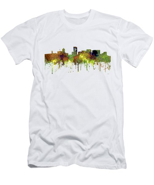 Portland Oregon Skyline Men's T-Shirt (Athletic Fit)